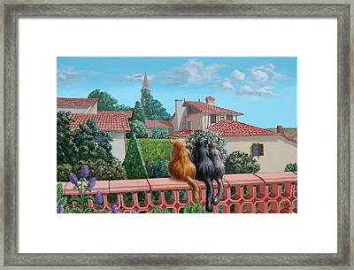 Saint-frajou. August. Framed Print