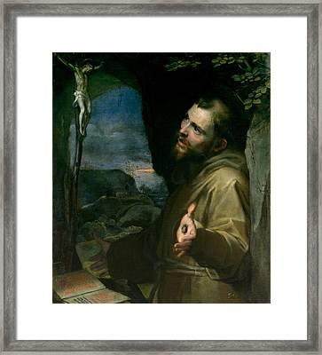 Saint Francis Framed Print by Federico Barocci