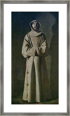 Saint Francis Framed Print by Francisco de Zurbaran
