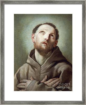 Saint Francis  Framed Print by Guido Reni