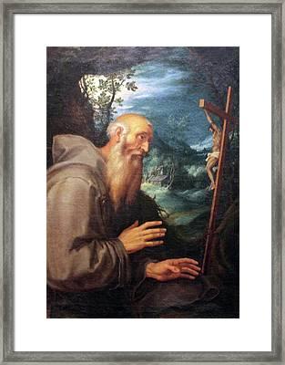Saint Francis Framed Print by Munir Alawi