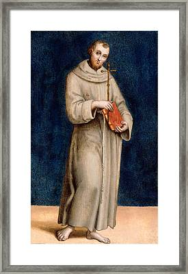 Saint Francis Of Assisi Framed Print by Raphael