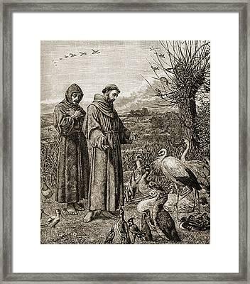 Saint Francis Of Assissi, C. 1181-1226 Framed Print