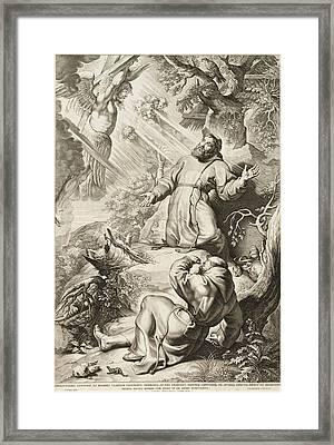 Saint Francis Receiving The Stigmata Framed Print