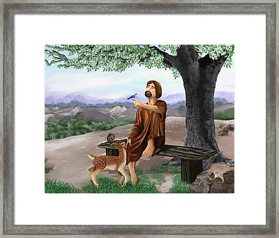 Framed Print featuring the painting Saint Francis by Susan Kinney