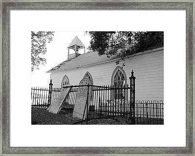 Saint Francis Xavier Catholic Church Framed Print by Troy Montemayor