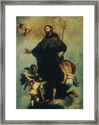 Saint Francis Xavier Framed Print by Miguel Cabrera