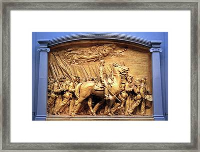 Saint Gaudens' The Shaw Memorial Marches On Framed Print by Cora Wandel