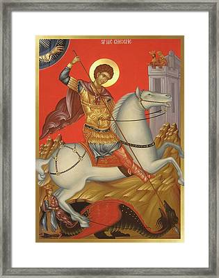 Saint George Framed Print by Daniel Neculae