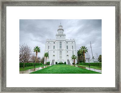 Saint George Temple Framed Print
