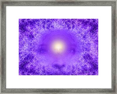 Saint Germain And The Violet Flame Framed Print by Robby Donaghey