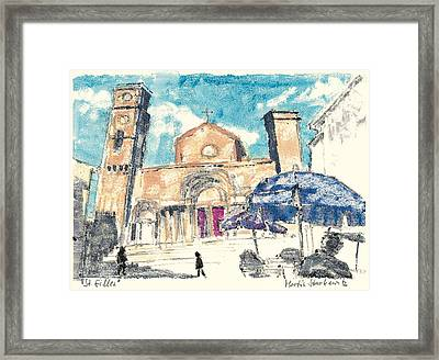 Framed Print featuring the painting Saint Gilles Abbey by Martin Stankewitz