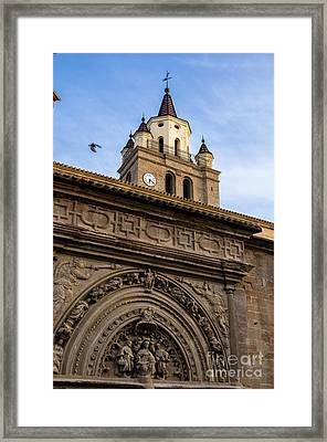 Saint Hieronymus Facade Of Calahorra Cathedral Framed Print by RicardMN Photography