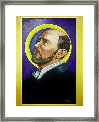 Framed Print featuring the painting Saint Ignatius Loyola by Bryan Bustard