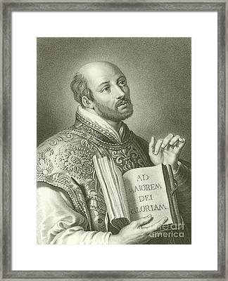 Saint Ignatius Of Loyola Framed Print by English School