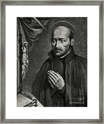 Saint Ignatius Of Loyola Framed Print by German School