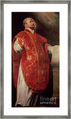 Saint Ignatius Of Loyola Framed Print by Peter Paul Rubens