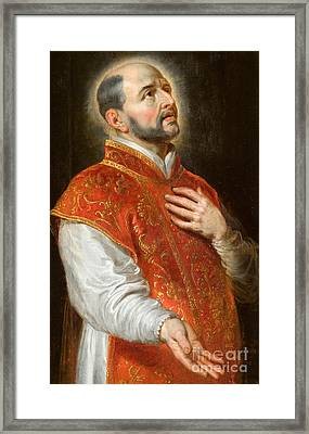 Saint Ignatius Framed Print by Peter Paul Rubens