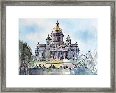 Saint Isaac's Cathedral - Saint Petersburg - Russia  Framed Print