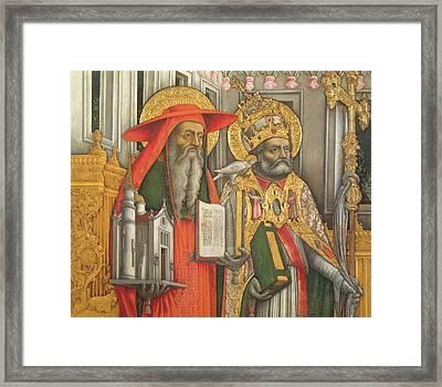 Saint Jerome And Saint Gregory Framed Print by Antonio Vivarini