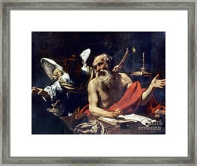 Saint Jerome & The Angel Framed Print by Granger