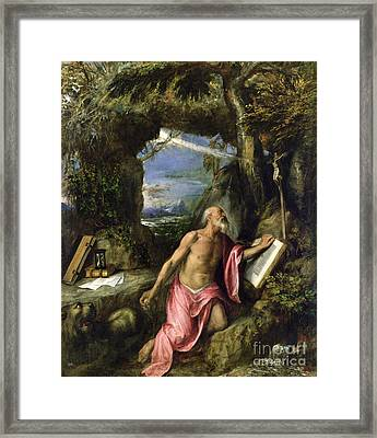 Saint Jerome Framed Print by Titian