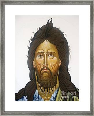 Saint John Framed Print by George Siaba