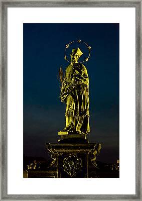 Saint John Of Nepomuk Framed Print by Gary Rieks
