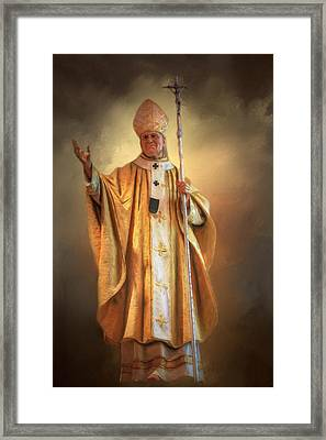 Framed Print featuring the photograph Saint John Paul The Second by Donna Kennedy
