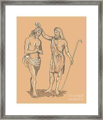 Saint John The Baptist Framed Print by Aloysius Patrimonio