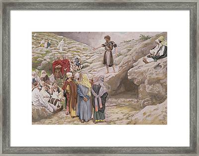 Saint John The Baptist And The Pharisees Framed Print by Tissot