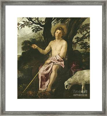 Saint John The Baptist In The Wilderness Framed Print by Diego Rodriguez de Silva y Velazquez