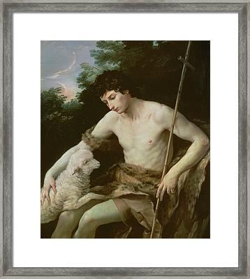Saint John The Baptist In The Wilderness Framed Print by Guido Reni
