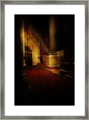 Saint John The Devine - Interior Framed Print by Jeff Burgess