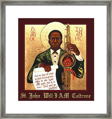 Saint John The Divine Sound Baptist Framed Print