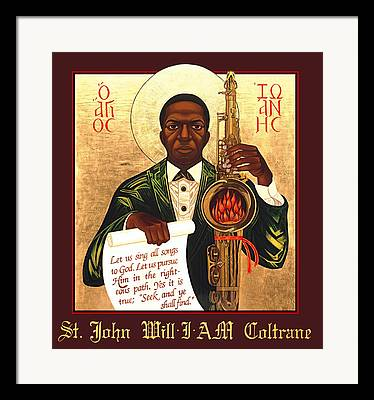 African Saint Framed Prints