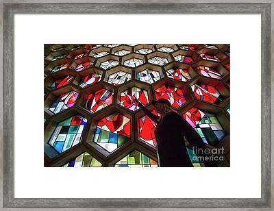 Saint John's University Abbey Amazing Stained Glass Framed Print