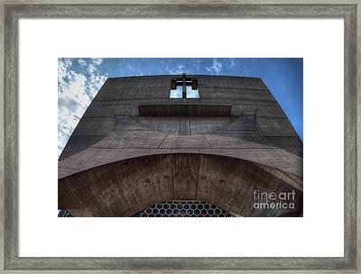 Saint John's University Abbey Spring Morning Blue Sky Framed Print