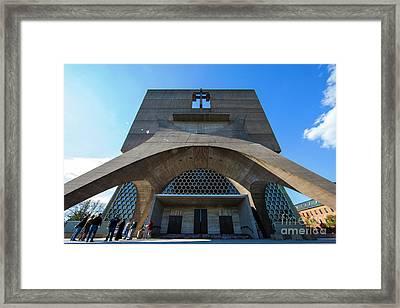 Saint John's University Abbey Spring Morning Framed Print