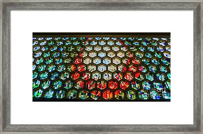 Saint John's University Abbey Stained Glass Magic Framed Print