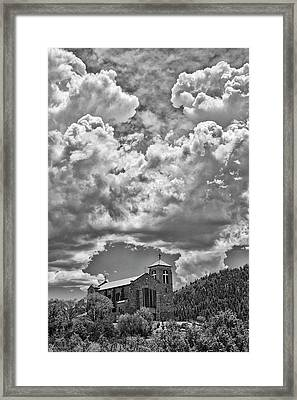 Saint Joseph Apache Mission, Mescalero, New Mexico, June 10, 201 Framed Print by Mark Goebel