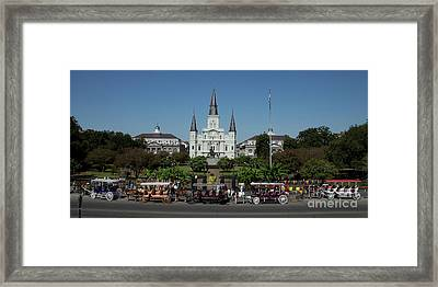 Saint Lewis Cathedral French Quarter New Orleans, La Framed Print