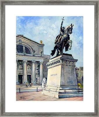 Saint Louis Art Museum Entrance Framed Print