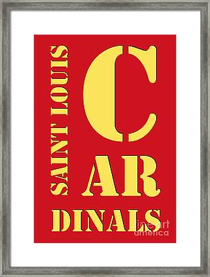 Saint Louis Cardinals Typography Red Framed Print by Pablo Franchi