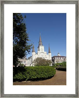 Saint Louis Cathederal 2 Framed Print by Jack Herrington