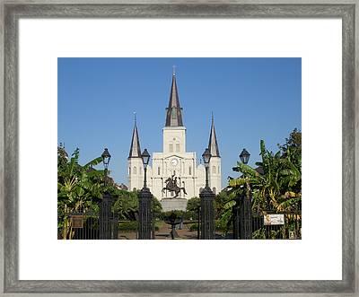 Saint Louis Cathederal 3 Framed Print by Jack Herrington