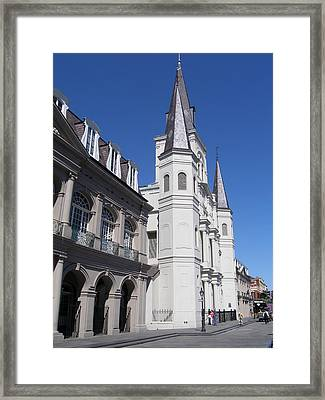 Saint Louis Cathederal 4 Framed Print by Jack Herrington