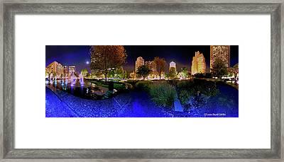 Saint Louis City Garden Panorama Framed Print by David Coblitz