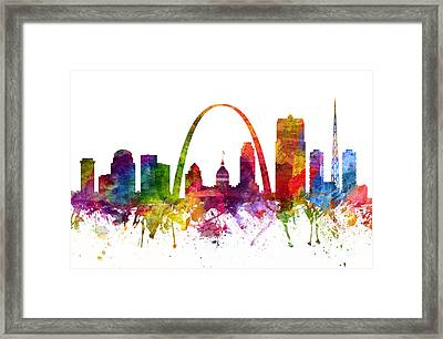 Saint Louis Cityscape 06 Framed Print by Aged Pixel