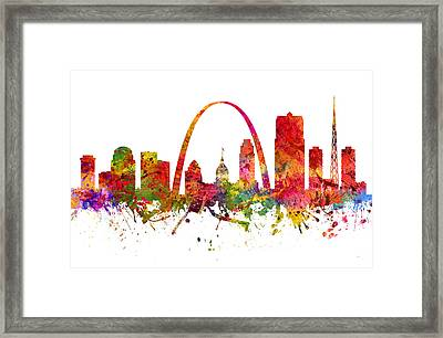 Saint Louis Cityscape 08 Framed Print by Aged Pixel